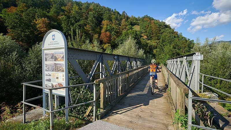 Nekdanji železniški most v Slovenj Gradcu.